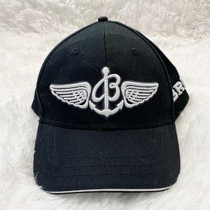 Breitling Black & White Pilot's Cap Baseball Hat